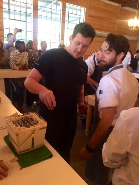 Chef and Guest Judge, Matt Manning with Chef Farrel Hirsch