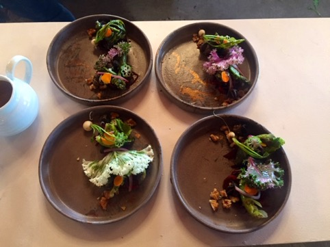 Dishes that were prepared by the chefs, using some of Mason Farming's produce